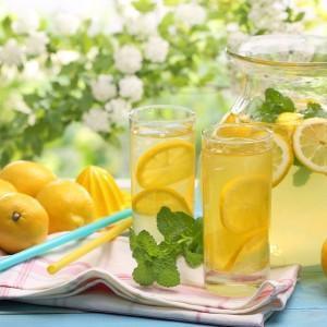 Вкусный лимонад с лимоном