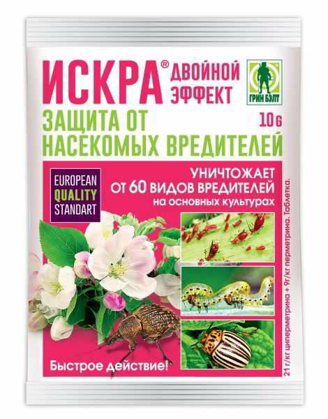 Искра от насекомых вредителей