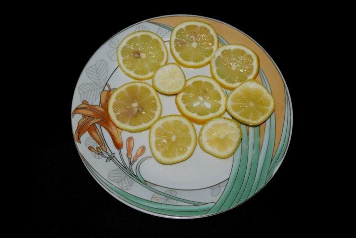 Новогрузинский лимон в нарезке фото
